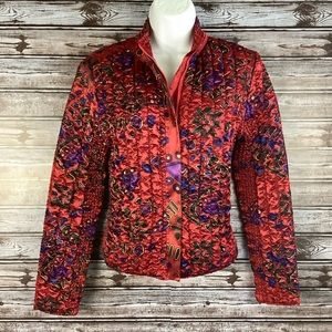 Ruby Rd Petite SMALL Quilted Zip Up Jacket